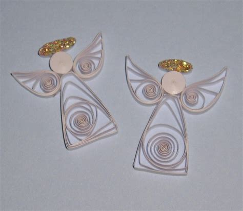 quilling angel tutorial pair of quilled angels by craftiny on etsy quilling