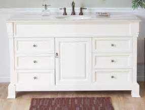 60 inch single sink bathroom vanity in white