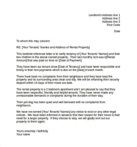 Tenant Recommendation Letter Pdf tenant recommendation letter letter template