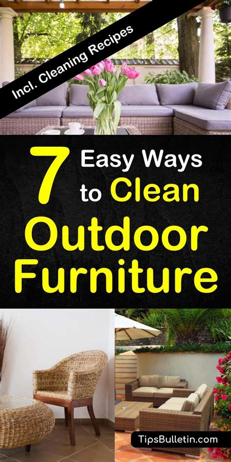 How To Clean Outdoor Furniture Cushions by 7 Easy Ways To Clean Outdoor Furniture How To Clean