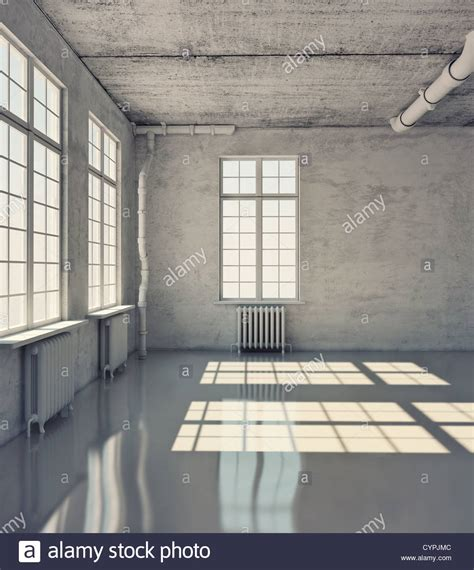 empty room empty room with windows loft concept stock photo royalty