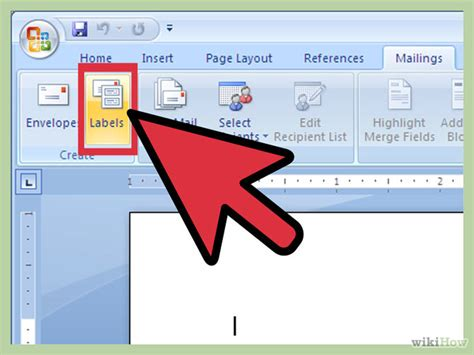 design label in word how to create labels using microsoft word 2007 13 steps