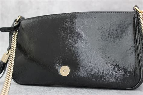 J Gucci Soho Kas gucci patent leather soho shoulder bag at s consignment