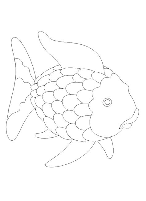 rainbow fish colouring template rainbow fish template free coloring pages on