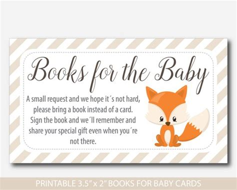 bring a book instead of a card babyshower free template woodland bring a book instead of a card insert woodland baby