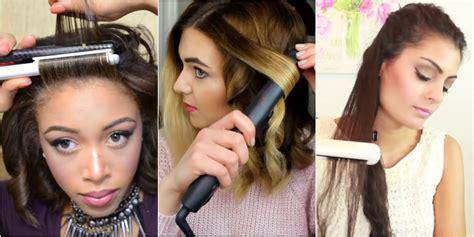 easy hairstyles using a straightener cute easy hairstyles to do with a straightener hair