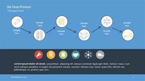 Six Step Process Ppt Infographic Slide Ocean Deloitte Powerpoint Template 2017