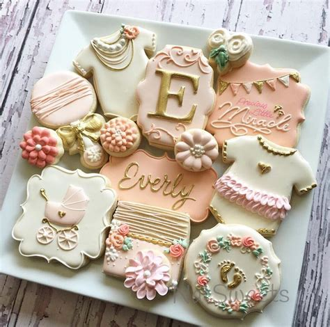 Pink Baby Shower Cookies Recipes by 25 Best Ideas About Baby Shower Cookies On