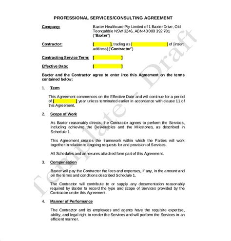 consulting fee agreement template 9 consulting agreement template