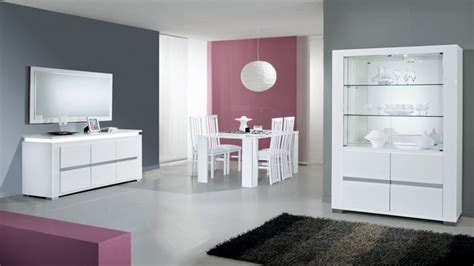 Italian lacquer dining room furniture, modern white