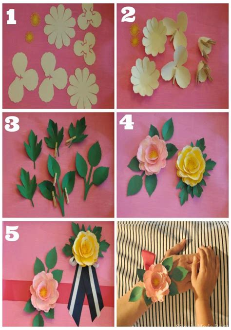 How We Make Paper Flower - handmade s day paper flower corsage in 5 easy steps