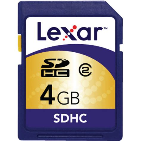 Memory Card Sdhc 4gb lexar 4gb sdhc memory card sd4gb 711 b h photo