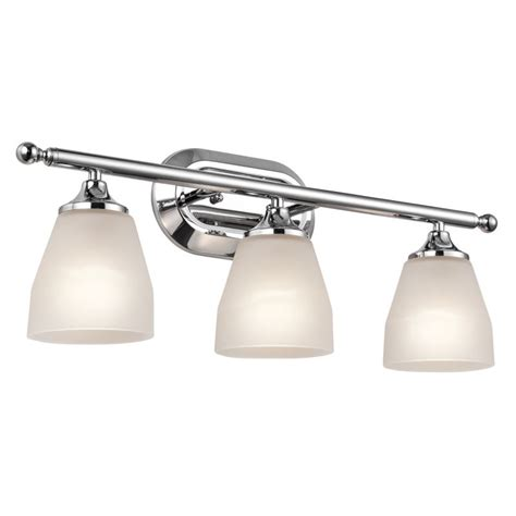 Kichler Bathroom Light Fixtures Kichler 5448ch Chrome Ansonia 3 Light 23 Quot Wide Vanity Light Bathroom Fixture With Etched Glass