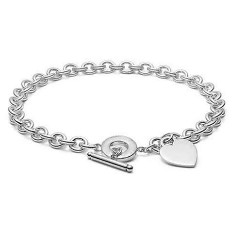 sterling silver tag toggle necklace 87 99