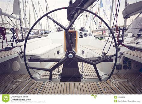 sailing boat steering wheel sailing yacht steering wheels stock photo image 44369035