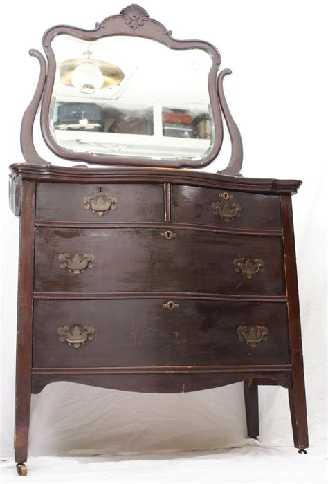antique dressers and chests antique dark dresser chest with mirror