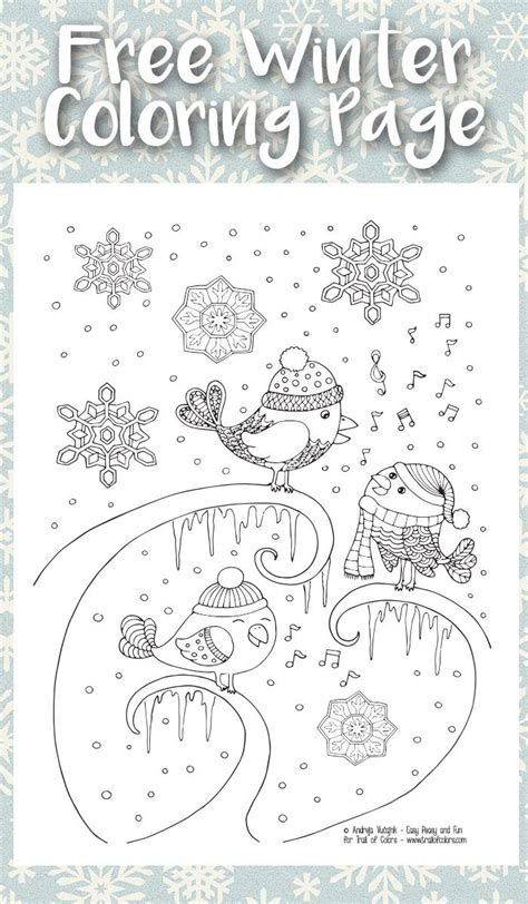 advanced winter coloring pages singing birds winter coloring page for adults continue