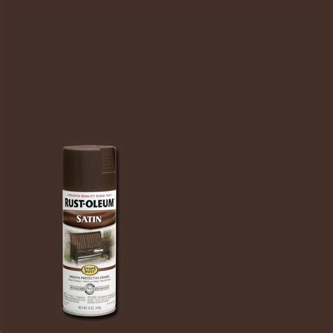 rust oleum stops rust 12 oz protective enamel satin brown spray paint 241239 the home depot
