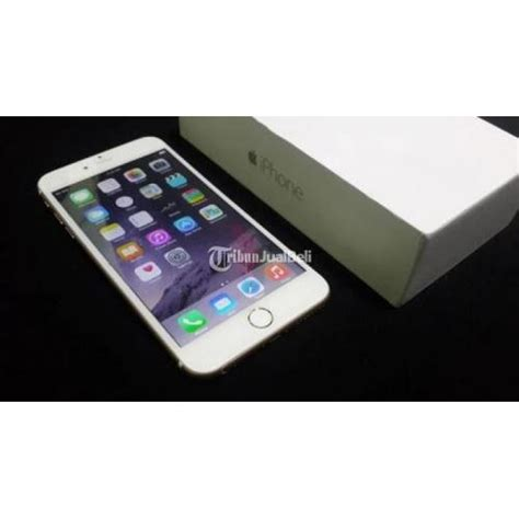 Apple Iphone 6 Plus 64gb Gold Second Mulus iphone 6 plus 64gb gold kelengkapan fullset icloud aman 93