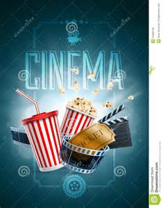 cinema poster design template stock vector image 44098150