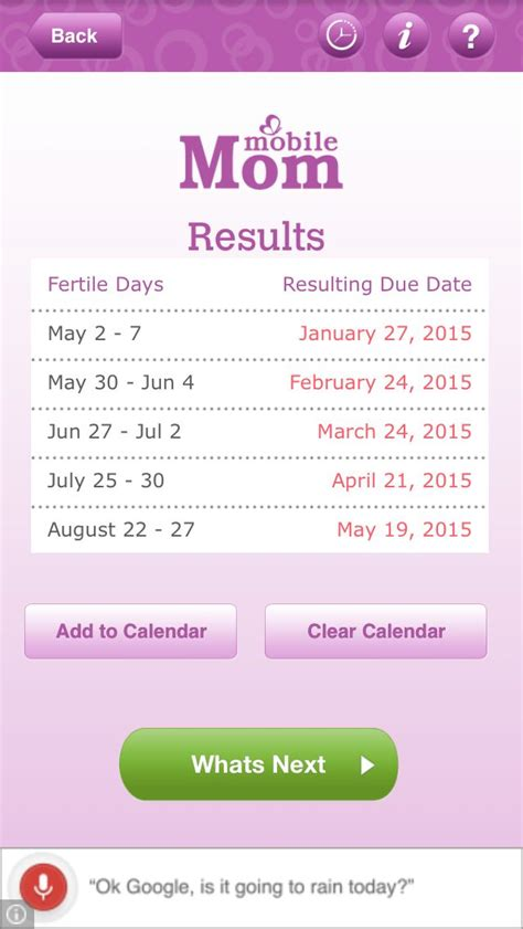the best ovulation calculator 25 best ideas about fertility calculator on