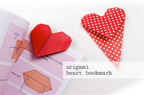 Decorating Valentine Boxes Origami Heart Bookmark Tutorial