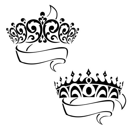 tribal crown tattoos pics of princess crowns clipart best