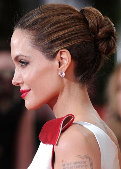 Easy Hairstyles Without Bangs | 33 angelina jolie hairstyles angelina jolie hair pictures