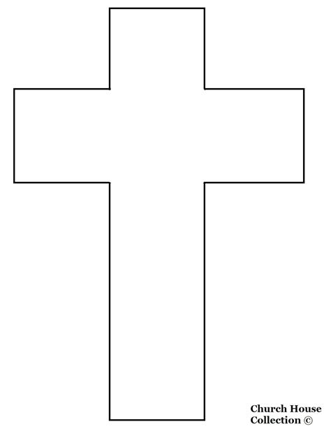 cross template free coloring pages of cut out house