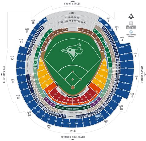 rogers centre seating chart pin rogers centre seating plan on