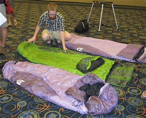 Sleeping Bags For Side Sleepers nemo s sleeping bags new shape for side sleepers