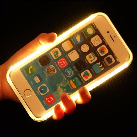 selfie luxury light  glowing phone cases  iphone      se cover  samsung
