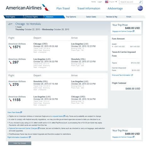 Aa Baggage Fee by 488 Hawaii From Chicago Cleveland Denver Amp Houston