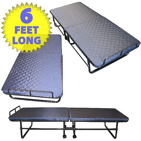 walmart folding bed super comfort padded mattress fold down guest bed