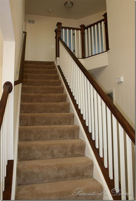 oak banister makeover minwax polyshades mission oak i d like to do this to our