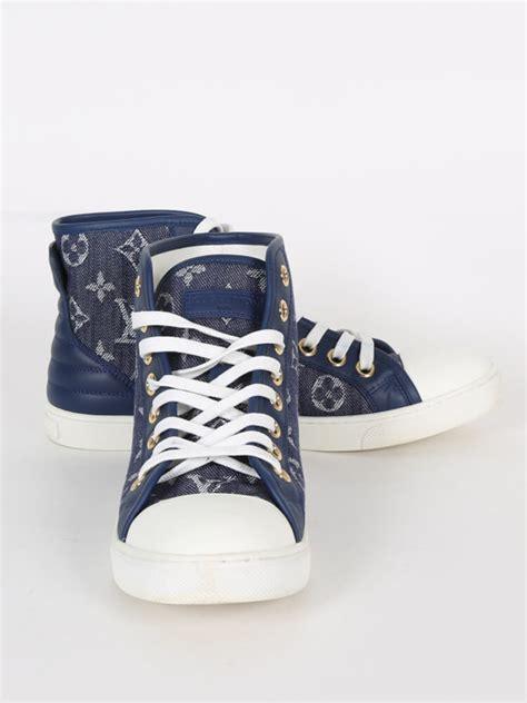 38 Louis Vuitton Shoes louis vuitton punchy sneakers monogram denim blue 38 5