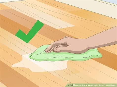 acrylic paint removal from wood 5 ways to remove acrylic paint from wood wikihow