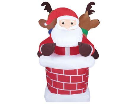 chimenea santa claus mu 241 eco inflable santa claus en chimenea navidad
