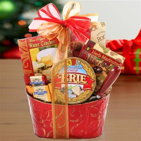 cheese and crackers holiday gift basket aa gifts baskets