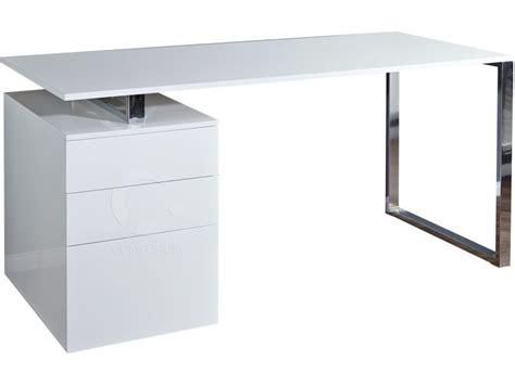 blanc au bureau bureau blanc laqu 233 design avec tiroirs vente de bureau