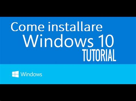 install windows 10 english come installare windows 10 eng subtitles how to