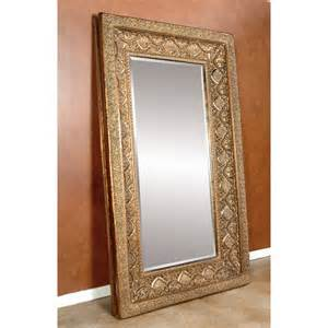 gold ornate leaning floor mirror 52w x 89h in at hayneedle