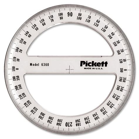 Home Design And Drafting by Chartpak Full Circle Protractor Madill The Office Company