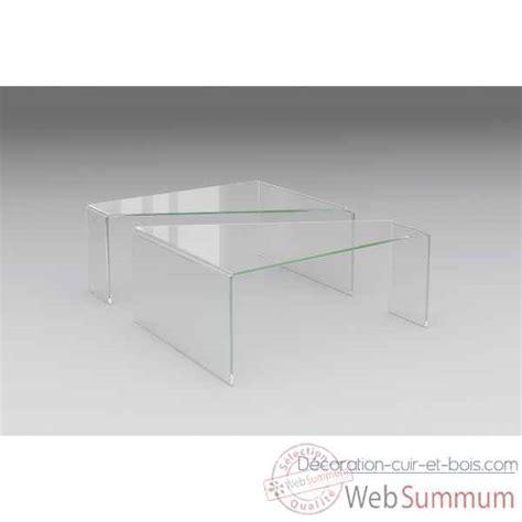Tables Basses Gigogne 1290 by Meuble Design Plexi Et Verre Marais International Sur