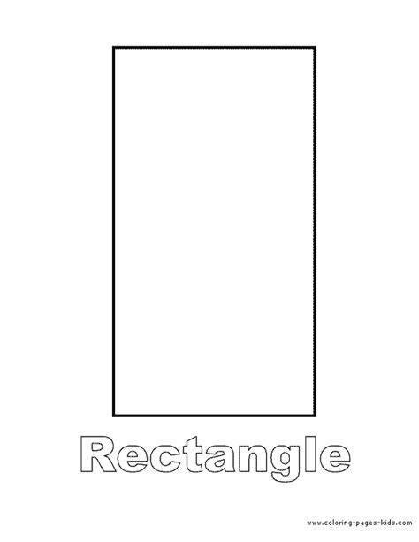printable rectangle shapes free coloring pages of shape rectangle