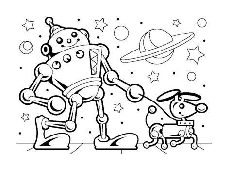 Robot Coloring Pages For Kids 13 171 Funnycrafts Coloring For