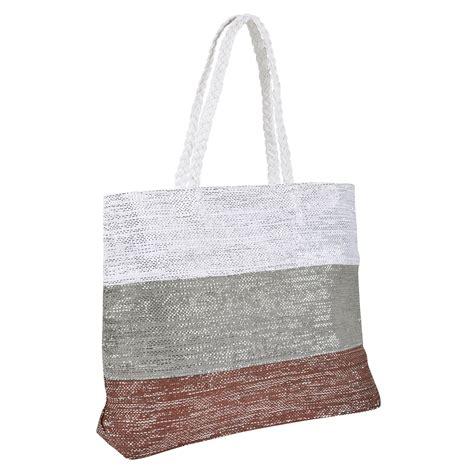 Canvas Tote With Shoulder canvas straw shoulder bag summer
