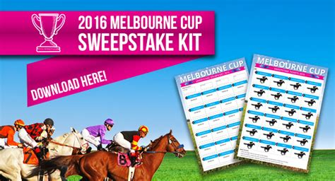 Melbourne Sweepstake - the ultimate 2016 melbourne cup sweep kit power fm far south coast nsw