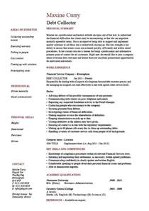Collections Resume by Debt Collector Resume Loans Description Exle Sle Template Money Credit Work