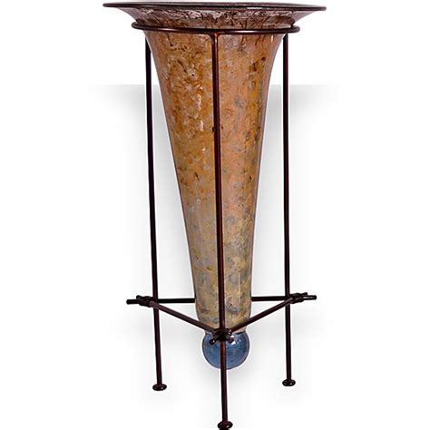 Vase Stands by Gold Dust Cone Vase With Iron Stand Couleur
